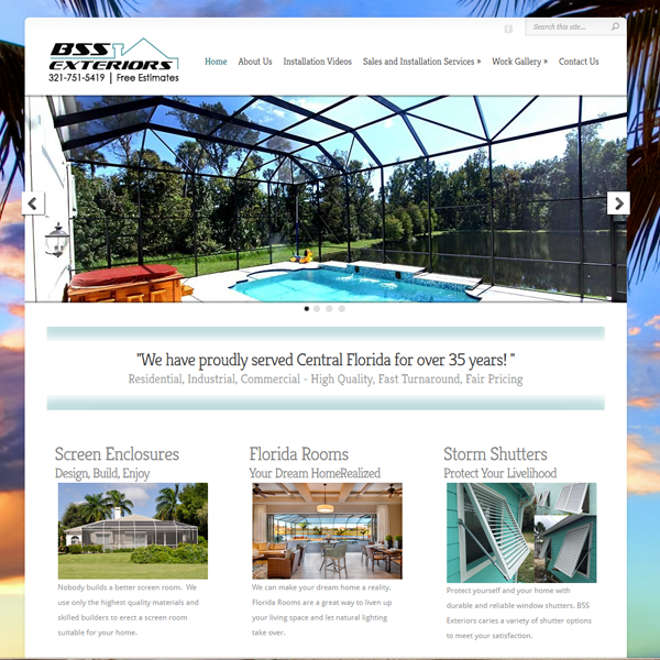BSS Exteriors – Corporate Brading and Web Design